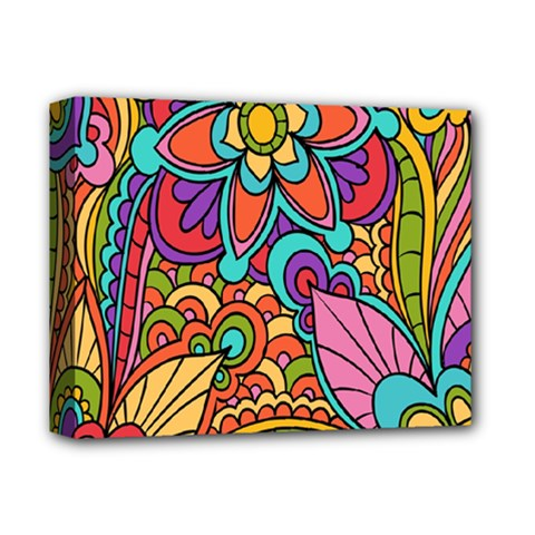 Festive Colorful Ornamental Background Deluxe Canvas 14  x 11