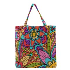 Festive Colorful Ornamental Background Grocery Tote Bag