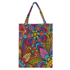 Festive Colorful Ornamental Background Classic Tote Bag