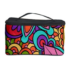 Festive Colorful Ornamental Background Cosmetic Storage Cases