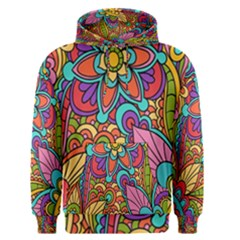 Festive Colorful Ornamental Background Men s Pullover Hoodie