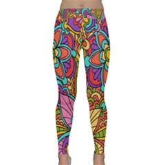 Festive Colorful Ornamental Background Yoga Leggings