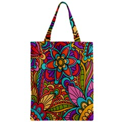 Festive Colorful Ornamental Background Zipper Classic Tote Bag