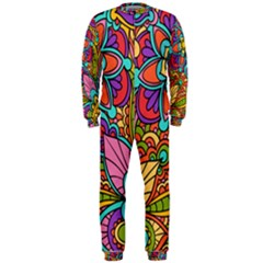 Festive Colorful Ornamental Background OnePiece Jumpsuit (Men)