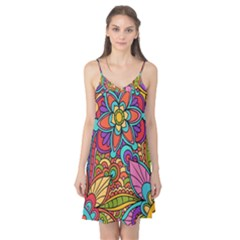 Festive Colorful Ornamental Background Camis Nightgown