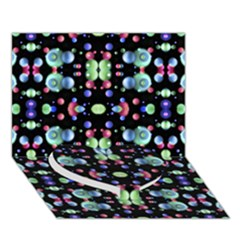 Multicolored Galaxy Pattern Heart Bottom 3d Greeting Card (7x5)