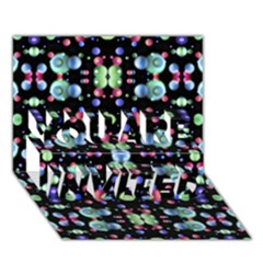 Multicolored Galaxy Pattern YOU ARE INVITED 3D Greeting Card (7x5)