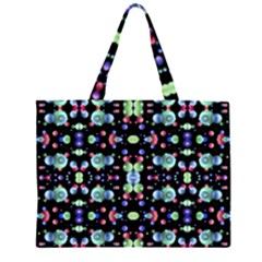 Multicolored Galaxy Pattern Large Tote Bag