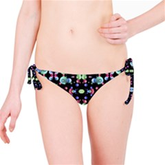 Multicolored Galaxy Pattern Print Bikini Bottom
