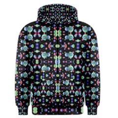 Multicolored Galaxy Pattern Print Men s Zipper Hoodie