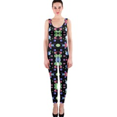 Multicolored Galaxy Pattern Print OnePiece Catsuit