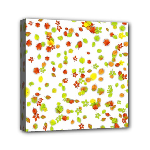 Colorful Fall Leaves Background Mini Canvas 6  x 6