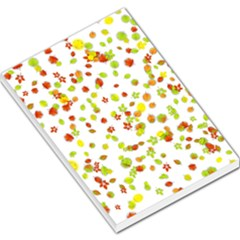 Colorful Fall Leaves Background Large Memo Pads