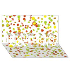 Colorful Fall Leaves Background BEST SIS 3D Greeting Card (8x4)