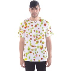 Colorful Fall Leaves Background Men s Sport Mesh Tee