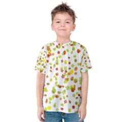 Colorful Fall Leaves Background Kid s Cotton Tee