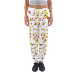 Colorful Fall Leaves Background Women s Jogger Sweatpants