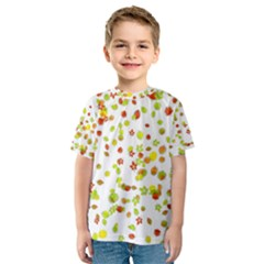 Colorful Fall Leaves Background Kid s Sport Mesh Tee