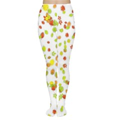 Colorful Fall Leaves Background Women s Tights