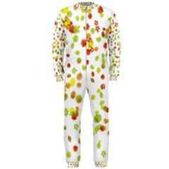 Colorful Fall Leaves Background OnePiece Jumpsuit (Men)