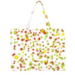 Colorful Fall Leaves Background Large Tote Bag