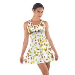 Colorful Fall Leaves Background Racerback Dresses