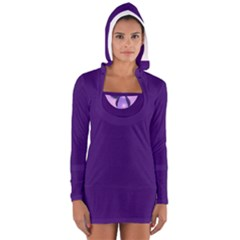 Red/Purple Tear Women s Long Sleeve Hooded T-shirt