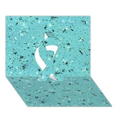 Abstract Cracked Texture Ribbon 3D Greeting Card (7x5)
