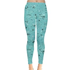 Abstract Cracked Texture Print Leggings