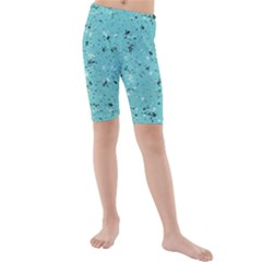 Abstract Cracked Texture Print Kid s Mid Length Swim Shorts