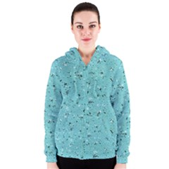 Abstract Cracked Texture Print Women s Zipper Hoodie