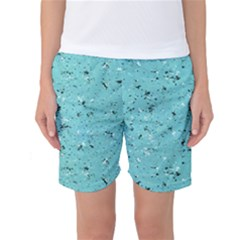 Abstract Cracked Texture Print Women s Basketball Shorts