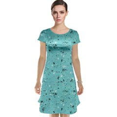 Abstract Cracked Texture Print Cap Sleeve Nightdress