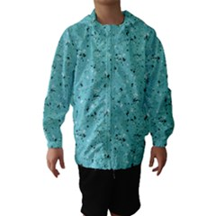 Abstract Cracked Texture Print Hooded Wind Breaker (Kids)