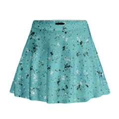 Abstract Cracked Texture Print Mini Flare Skirt