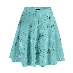 Abstract Cracked Texture Print High Waist Skirt