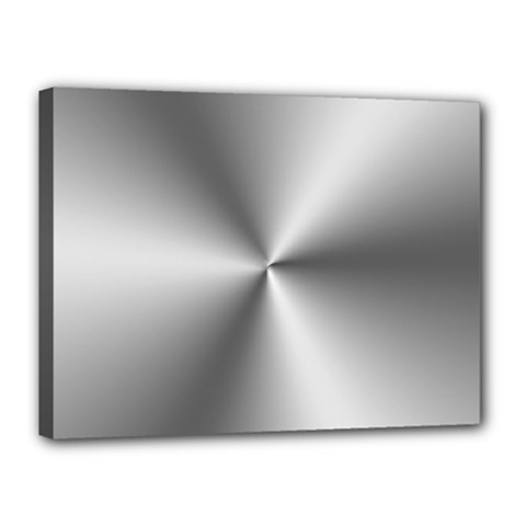 Shiny Metallic Silver Canvas 16  x 12