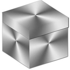 Shiny Metallic Silver Storage Stool 12