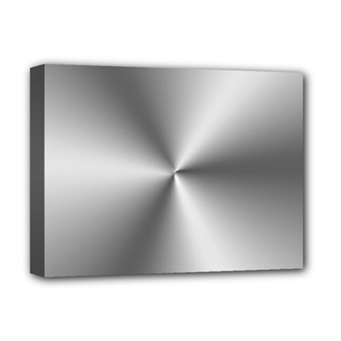 Shiny Metallic Silver Deluxe Canvas 16  x 12