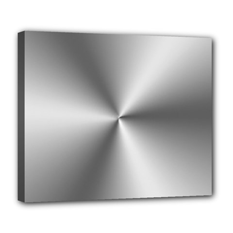 Shiny Metallic Silver Deluxe Canvas 24  x 20