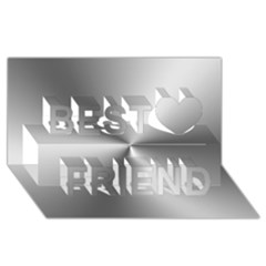 Shiny Metallic Silver Best Friends 3D Greeting Card (8x4)