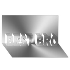 Shiny Metallic Silver BEST BRO 3D Greeting Card (8x4)