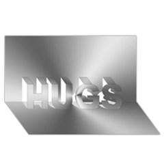 Shiny Metallic Silver HUGS 3D Greeting Card (8x4)