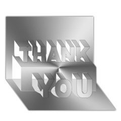 Shiny Metallic Silver THANK YOU 3D Greeting Card (7x5)