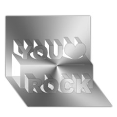 Shiny Metallic Silver You Rock 3D Greeting Card (7x5)