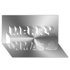 Shiny Metallic Silver Merry Xmas 3D Greeting Card (8x4)