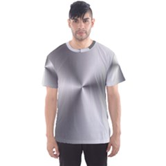 Shiny Metallic Silver Men s Sport Mesh Tee