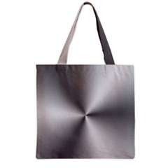 Shiny Metallic Silver Grocery Tote Bag