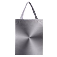 Shiny Metallic Silver Classic Tote Bag