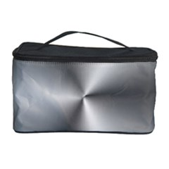 Shiny Metallic Silver Cosmetic Storage Cases